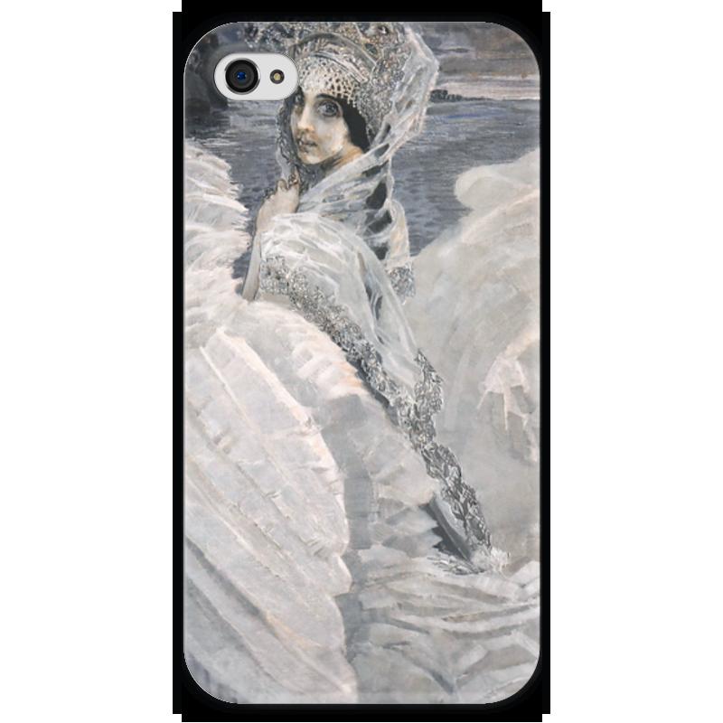 Чехол для iPhone 4 глянцевый, с полной запечаткой Printio Царевна-лебедь (картина врубеля) горки macyszynt toys лебедь большая с подключением воды