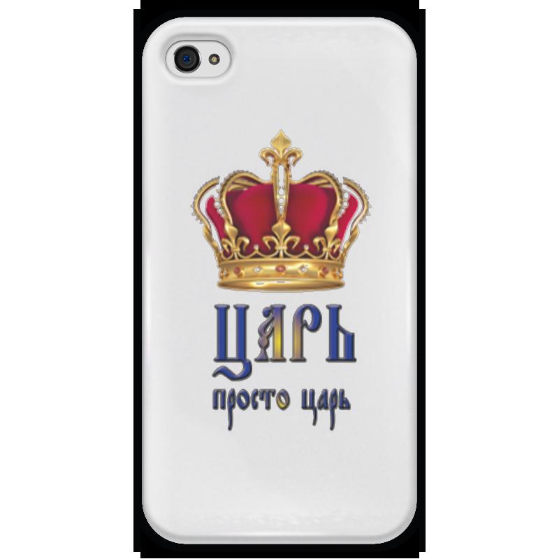 Чехол для iPhone 4 глянцевый, с полной запечаткой Printio Царьь чехол для iphone 4 глянцевый с полной запечаткой printio supreme
