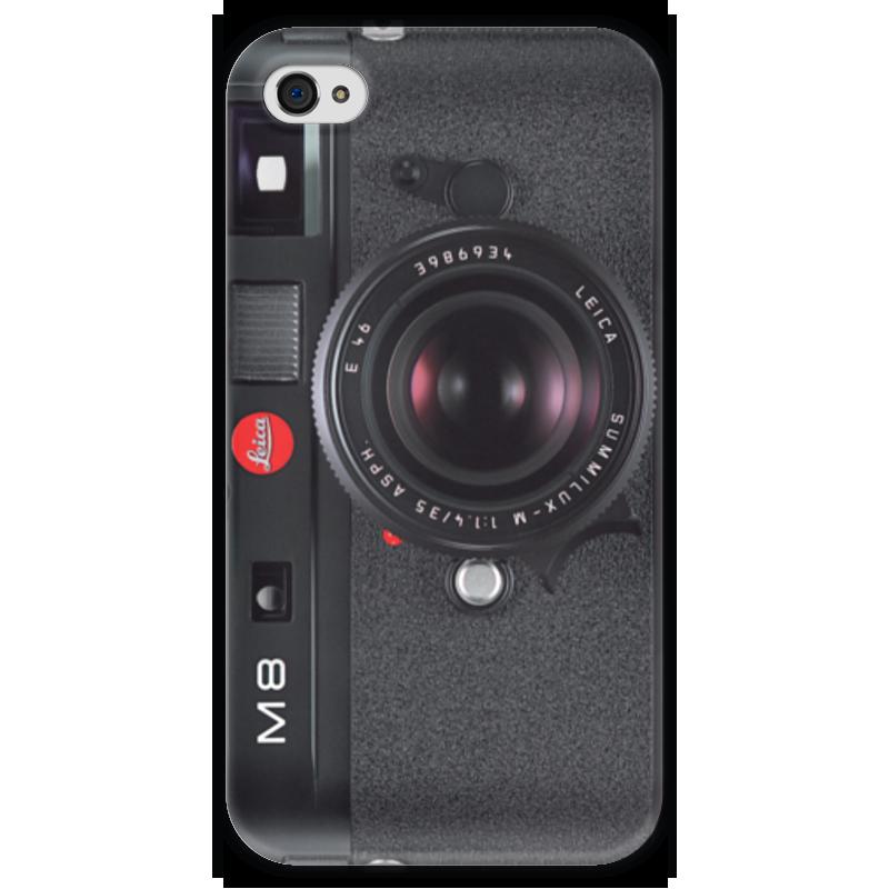 Чехол для iPhone 4 глянцевый, с полной запечаткой Printio Leica m8 120w 12v dc brush motor rohs ce square gear head ration 40 1 for 4 motors and 4 flange brackets total 8 pcs send to australia