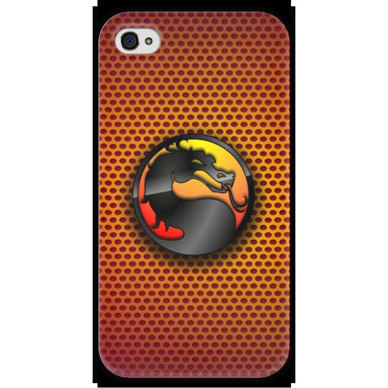 Чехол для iPhone 4 глянцевый, с полной запечаткой Printio Mortal kombat (cмертельная битва) ак mortal kombat komplete edition