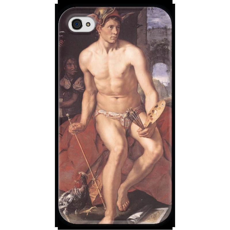 Чехол для iPhone 4 глянцевый, с полной запечаткой Printio Меркурий (хендрик гольциус) чехол для iphone 4 глянцевый с полной запечаткой printio эфиопка