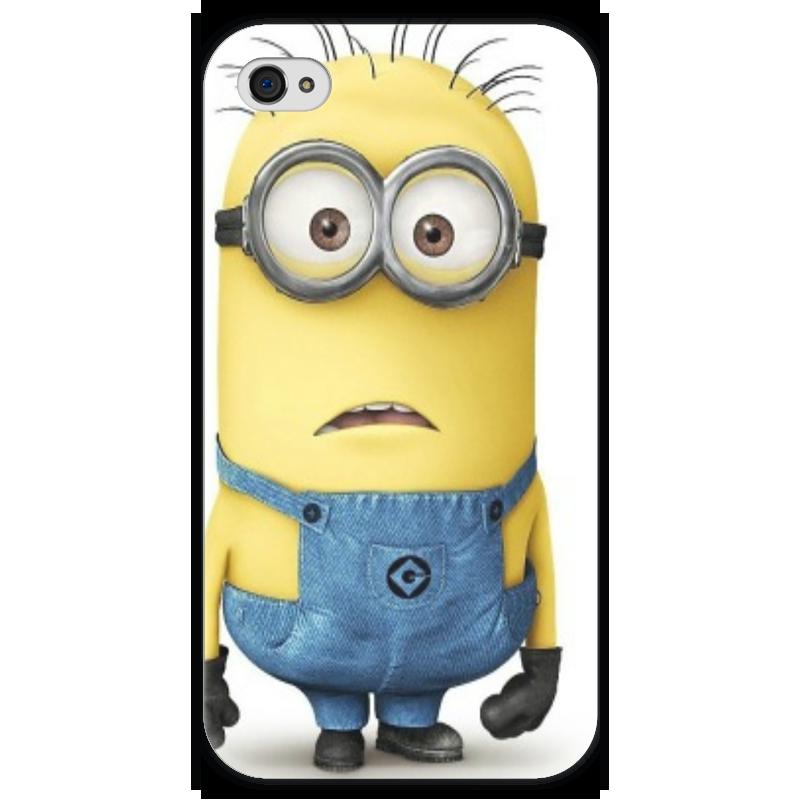 Чехол для iPhone 4 глянцевый, с полной запечаткой Printio Миньон чехол для iphone 4 глянцевый с полной запечаткой printio эфиопка