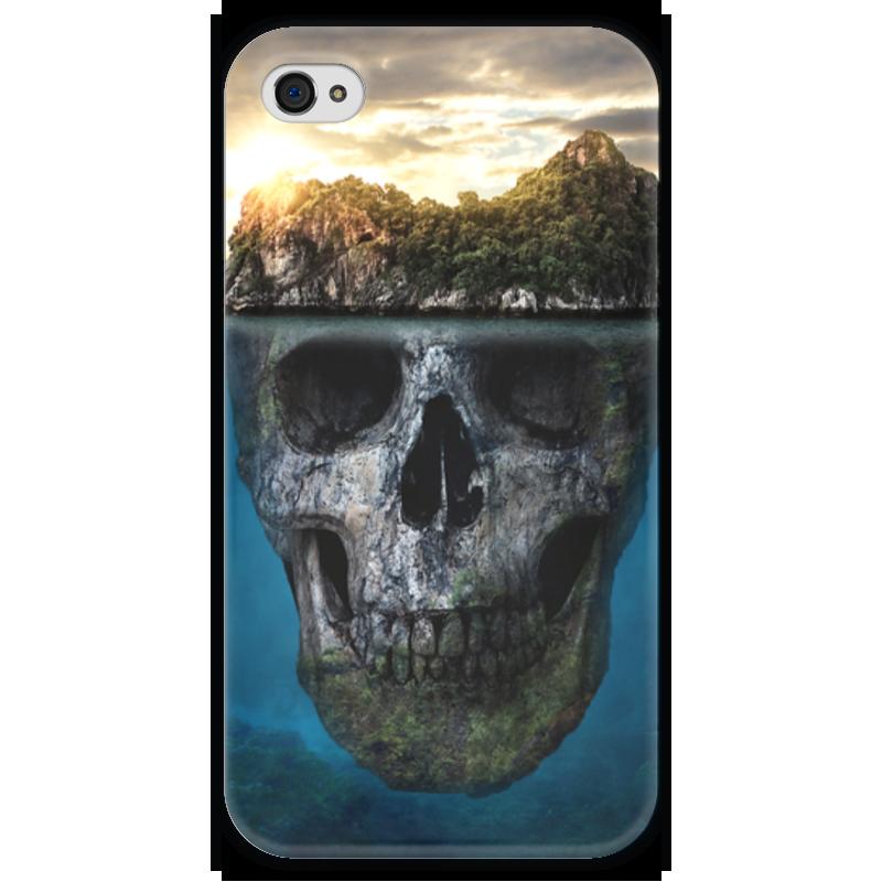 Чехол для iPhone 4 глянцевый, с полной запечаткой Printio Mysterious island коврик для мышки printio mysterious island