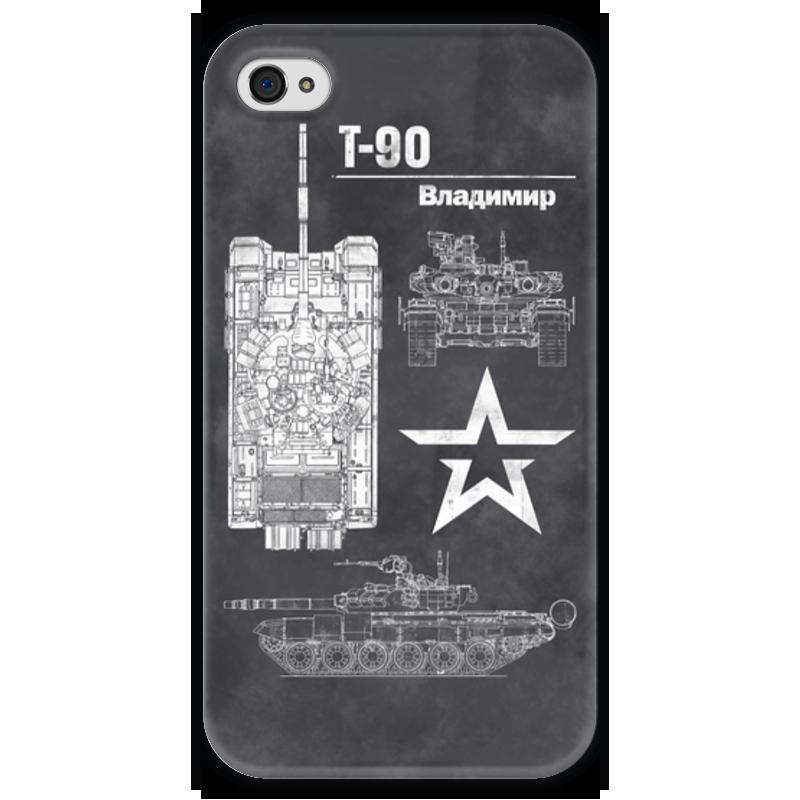 Чехол для iPhone 4 глянцевый, с полной запечаткой Printio Танк т-90 чехол для iphone 4 глянцевый с полной запечаткой printio эфиопка