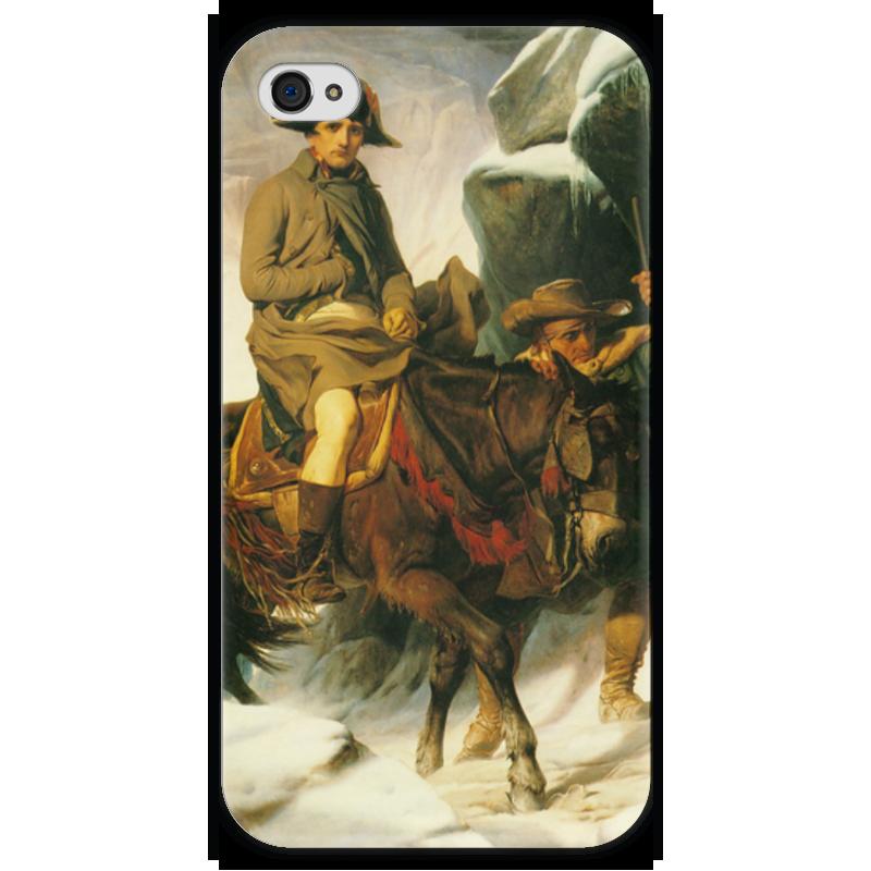 Чехол для iPhone 4 глянцевый, с полной запечаткой Printio Переход наполеона через альпы (поль деларош) футболка с полной запечаткой printio зов поль гоген