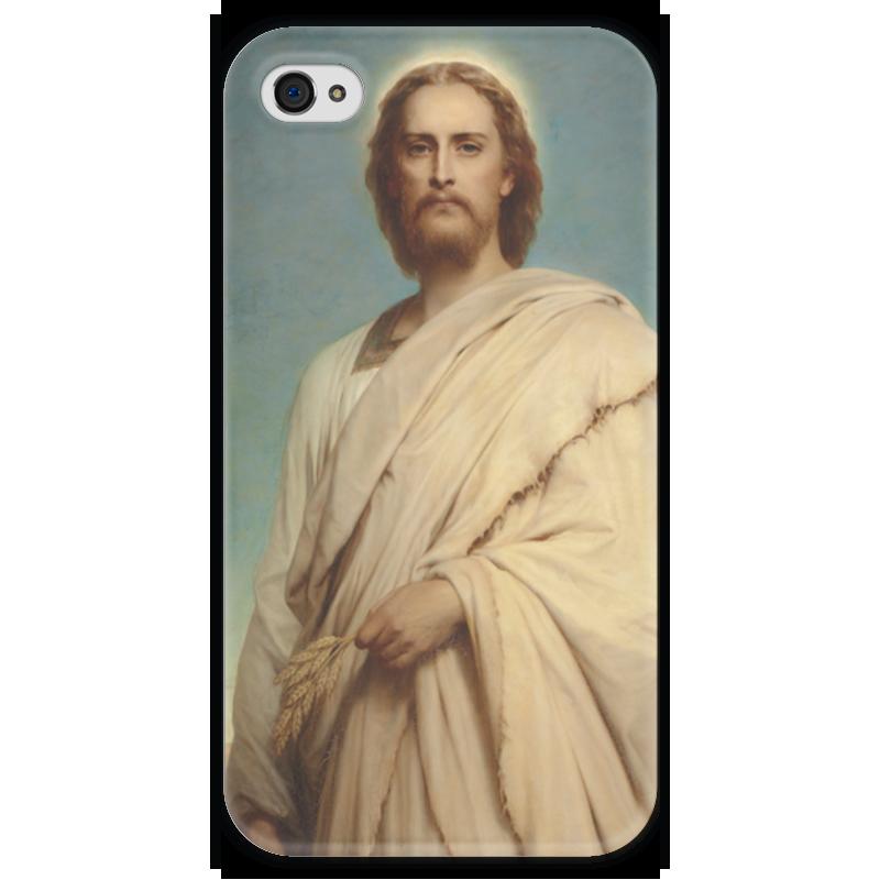 Чехол для iPhone 4 глянцевый, с полной запечаткой Printio Христос на ниве (фрэнк бернард дикси) вышивка бисером молящийся христос