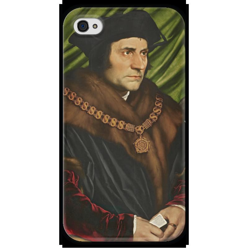 Чехол для iPhone 4 глянцевый, с полной запечаткой Printio Портрет томаса мора поршень на мотоледобур мора