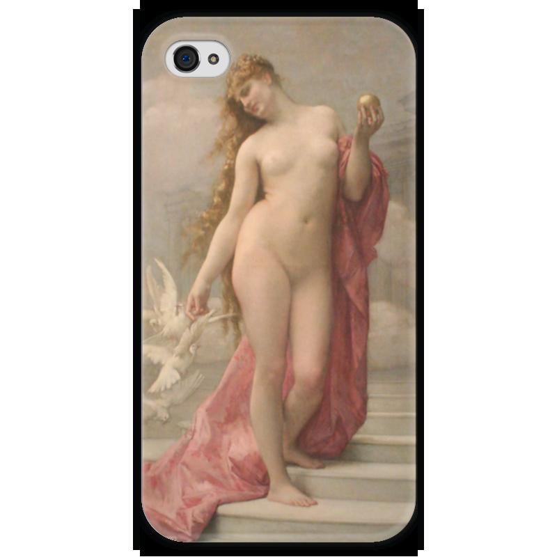 Чехол для iPhone 4 глянцевый, с полной запечаткой Printio Венера (картина кабанеля) цена