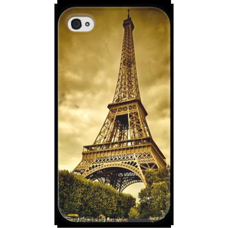 Чехол для iPhone 4 глянцевый, с полной запечаткой Printio Париж чехол для iphone 4 глянцевый с полной запечаткой printio иллидан