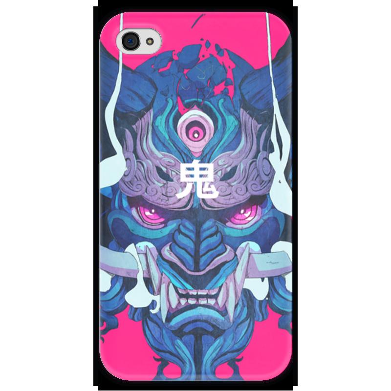Чехол для iPhone 4 глянцевый, с полной запечаткой Printio Dragon