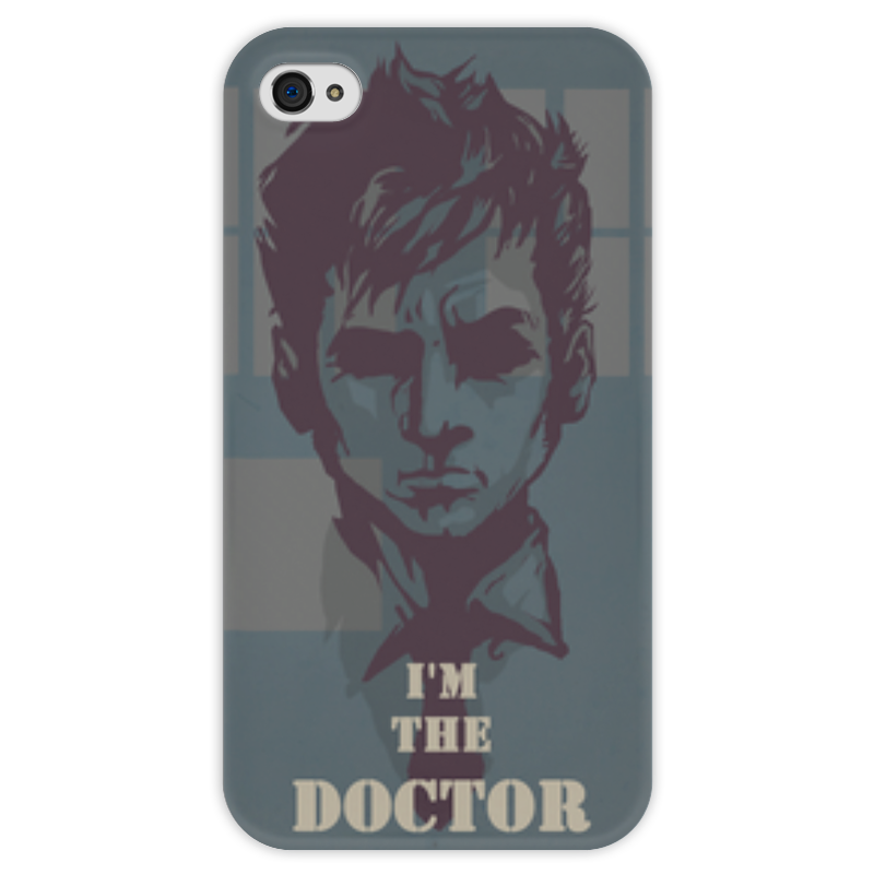 Чехол для iPhone 4 глянцевый, с полной запечаткой Printio Doctor who чехол для iphone 7 глянцевый printio doctor who x abbey road