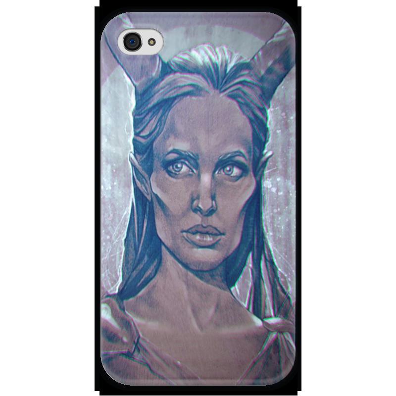 Чехол для iPhone 4 глянцевый, с полной запечаткой Printio Maleficent чехол для iphone 4 глянцевый с полной запечаткой printio эфиопка