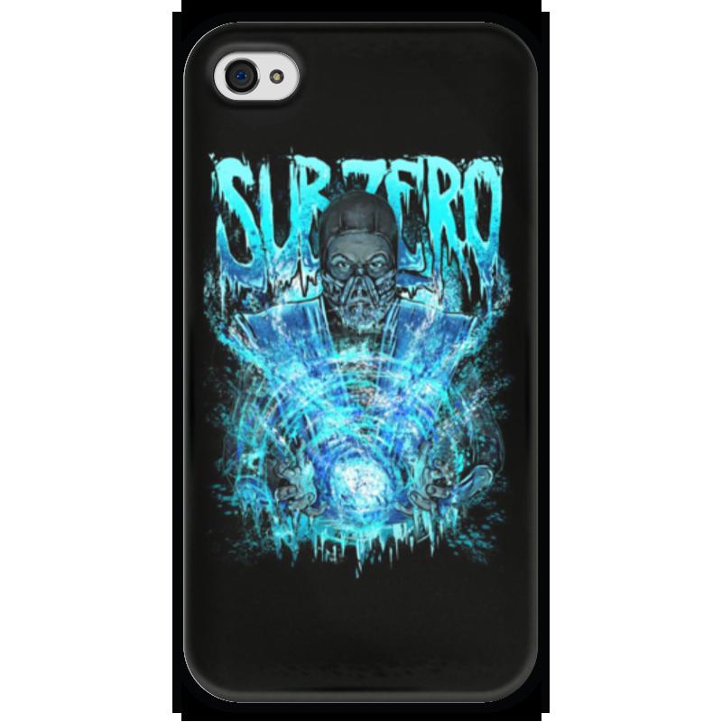Чехол для iPhone 4 глянцевый, с полной запечаткой Printio Sub-zero (mortal kombat)