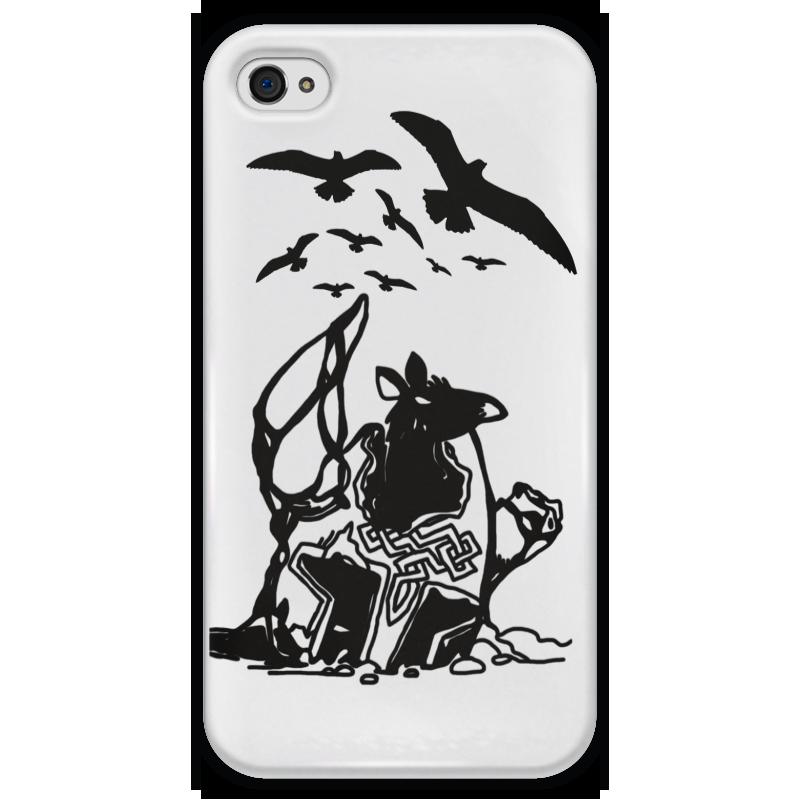 Чехол для iPhone 4 глянцевый, с полной запечаткой Printio Крыса в шлеме чехол для iphone 4 глянцевый с полной запечаткой printio эфиопка