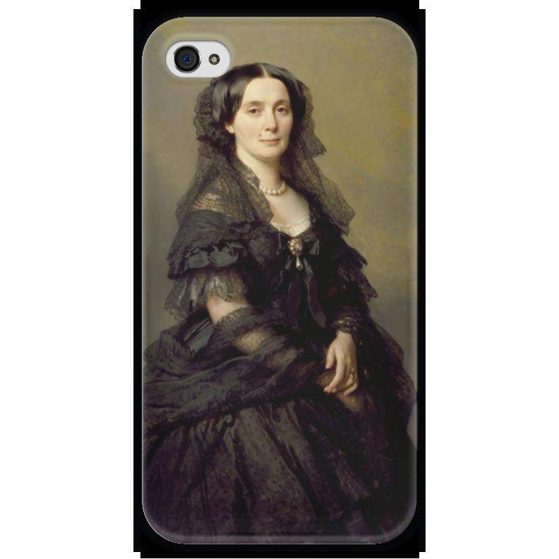 Чехол для iPhone 4 глянцевый, с полной запечаткой Printio Княгиня елена павловна кочубей елена александровна власова ряды