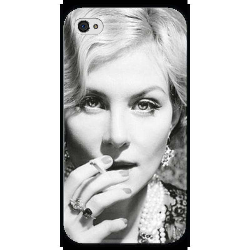 Чехол для iPhone 4 глянцевый, с полной запечаткой Printio Рената литвинова чехол для iphone 4 глянцевый с полной запечаткой printio эфиопка