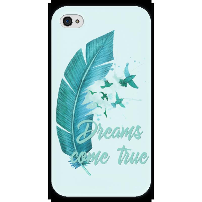Чехол для iPhone 4 глянцевый, с полной запечаткой Printio Dreams come true чехол для samsung galaxy s4 printio dreams come true
