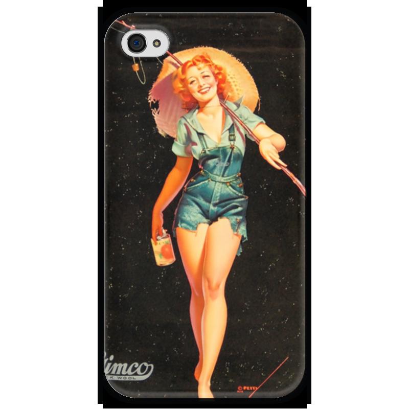 Чехол для iPhone 4 глянцевый, с полной запечаткой Printio Ретро чехол для iphone 4 глянцевый с полной запечаткой printio девушка