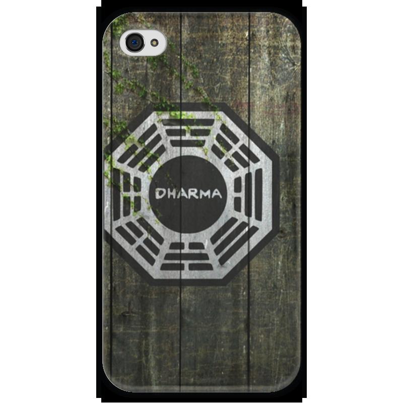 Чехол для iPhone 4 глянцевый, с полной запечаткой Printio Dharma, wood чехол для iphone 4 глянцевый с полной запечаткой printio эфиопка