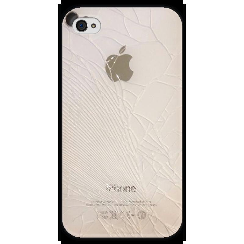 Чехол для iPhone 4 глянцевый, с полной запечаткой Printio Crack чехол для iphone 4 глянцевый с полной запечаткой printio фруктовый сад в цвету