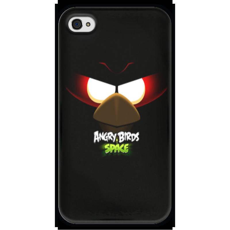 Чехол для iPhone 4 глянцевый, с полной запечаткой Printio Space (angry birds) чехол для iphone 4 глянцевый с полной запечаткой printio my space
