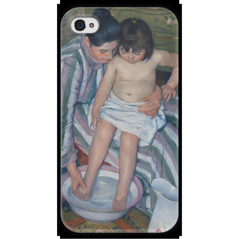 Чехол для iPhone 4 глянцевый, с полной запечаткой Printio Купание ребёнка чехол для iphone 4 глянцевый с полной запечаткой printio эфиопка