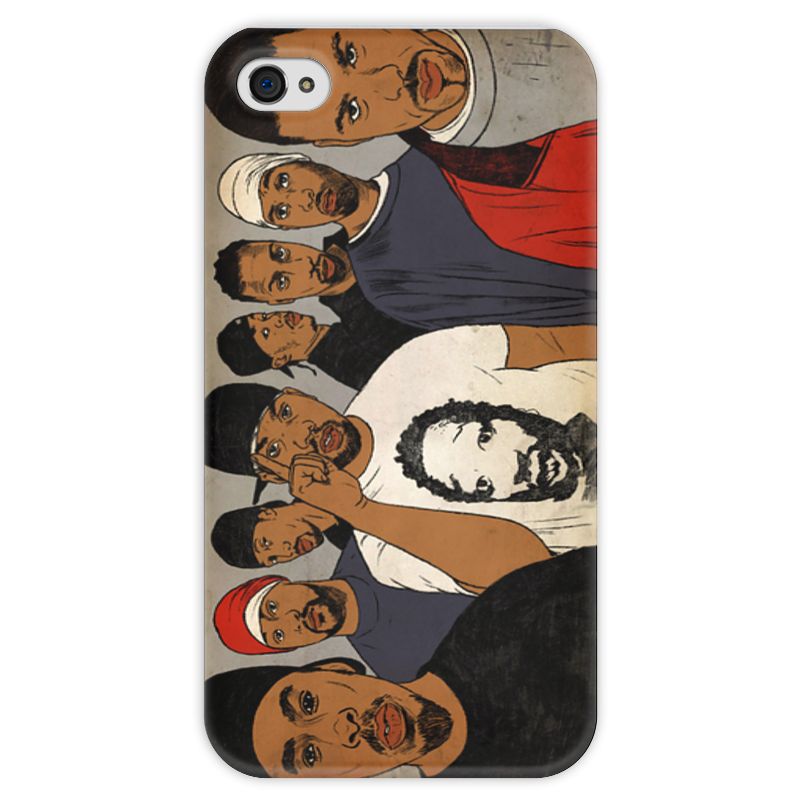 Чехол для iPhone 4 глянцевый, с полной запечаткой Printio Wutangclan чехол для iphone 4 глянцевый с полной запечаткой printio челси