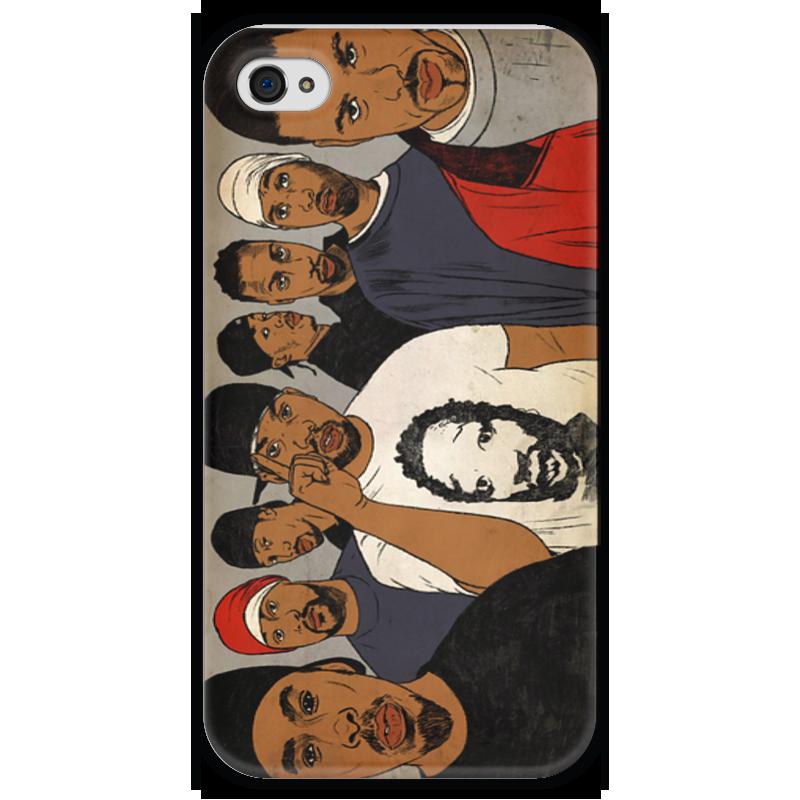 Чехол для iPhone 4 глянцевый, с полной запечаткой Printio Wutangclan чехол для iphone 4 глянцевый с полной запечаткой printio supreme