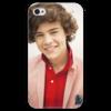 "Чехол для iPhone 4 глянцевый, с полной запечаткой ""Гарри Стайлс"" - uk, one direction, harry styles"