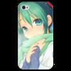 """Чехол для iPhone 4 глянцевый, с полной запечаткой """"Miku Hatsune Sush"""" - аниме, hatsune, мику, бесконечное лето, miku"""