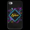 """Чехол для iPhone 4 глянцевый, с полной запечаткой """"Love Space"""" - звезды, космос, вселенная"""