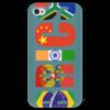 """Чехол для iPhone 4 глянцевый, с полной запечаткой """"BRICS - БРИКС"""" - россия, китай, индия, бразилия, юар"""