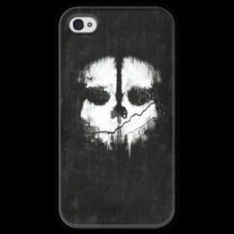 "Чехол для iPhone 4 глянцевый, с полной запечаткой ""Call of Duty: Ghosts"" - call of duty, шутер, ghosts, логан уокер, легенда о призраках"