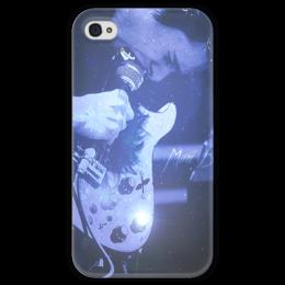 """Чехол для iPhone 4 глянцевый, с полной запечаткой """"Просто космос..."""" - muse, bellamy"""