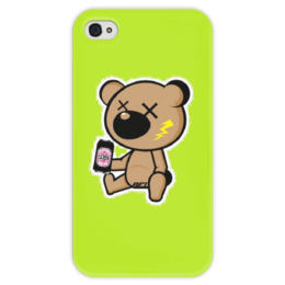 """Чехол для iPhone 4 глянцевый, с полной запечаткой """"Bear & Beer"""" - bear, beer"""