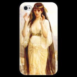 """Чехол для iPhone 4 глянцевый, с полной запечаткой """"Дочь Иеффая (картина Кабанеля)"""" - картина, кабанель"""