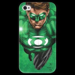 "Чехол для iPhone 4 глянцевый, с полной запечаткой ""Green Lantern iPhone "" - арт, comics, оригинально, dc, comix, iphone 5, lantern, dc comics, green lanter, greeen"