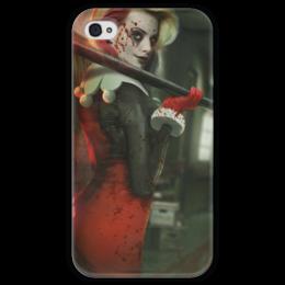 """Чехол для iPhone 4 глянцевый, с полной запечаткой """"Харли Квинн"""" - харли квинн, бэтмен, комиксы, джокер, harley quinn"""