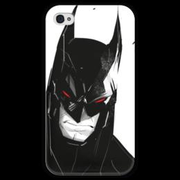 """Чехол для iPhone 4 глянцевый, с полной запечаткой """"Бэтмен"""" - комиксы, batman, dc, dc comics, бэтс"""