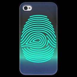 """Чехол для iPhone 4 глянцевый, с полной запечаткой """"Отпечаток пальца"""" - арт, рисунок, пальцы, стильный, отпечаток"""