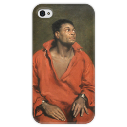 """Чехол для iPhone 4 глянцевый, с полной запечаткой """"Пленный раб"""" - симпсон, картина"""
