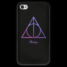 """Чехол для iPhone 4 глянцевый, с полной запечаткой """"Deathly Hallows"""" - harry potter, гарри поттер, хогвартс, hogwarts"""