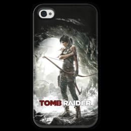 """Чехол для iPhone 4 глянцевый, с полной запечаткой """"Tomb raider"""" - lara croft, tomb raider, лара крофт"""