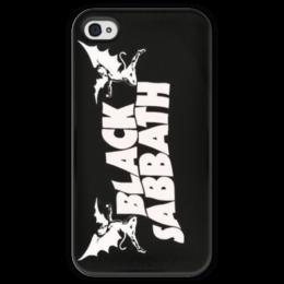 """Чехол для iPhone 4 глянцевый, с полной запечаткой """"Black Sabbath"""" - heavy metal, black sabbath, оззи осборн, ozzy osbourne, хэви метал"""