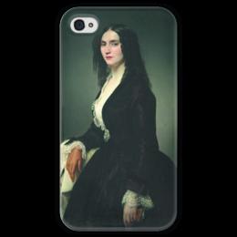 """Чехол для iPhone 4 глянцевый, с полной запечаткой """"Певица Матильда Джува-Бранка"""" - картина, айец"""