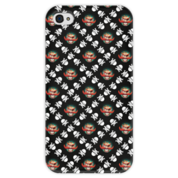 """Чехол для iPhone 4 глянцевый, с полной запечаткой """"Бармалей"""" - череп, пираты, кости, пират, бармалей"""