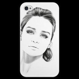 """Чехол для iPhone 4 глянцевый, с полной запечаткой """"Daenerys Targaryen"""" - девушка, рисунок, графика, знаменитость, игра престолов, game of thrones, dragon queen"""