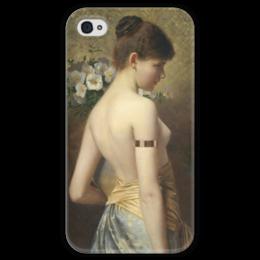 """Чехол для iPhone 4 глянцевый, с полной запечаткой """"Flora (флора)"""" - картина, нонненбрух"""