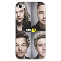 "Чехол для iPhone 4 глянцевый, с полной запечаткой ""One Direction"" - 1d, one direction"