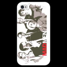 """Чехол для iPhone 4 глянцевый, с полной запечаткой """" Madmen"""" - drama, 60's, телесериал, madmen, безумцы, 1960"""